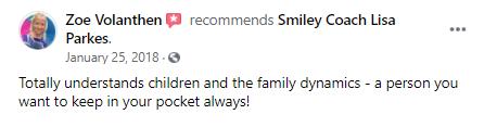 a client recommendation about Smiley Coach Lisa Parkes
